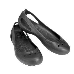 CROCS | Women's Kadee Flats- Black
